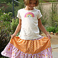 Matryoshka and Dots Twirl Skirt