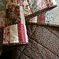 Moda Wuthering Heights Charm Block Quilt - backing