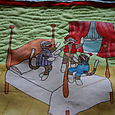 Funky Monkey Story - quilting detail