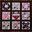 Heart quiltlet for swap - Heart Takes the Game