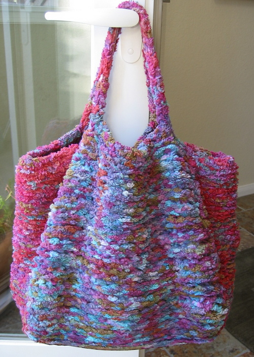Bag from Blue Heron Yarns Cotton Chenille Tape