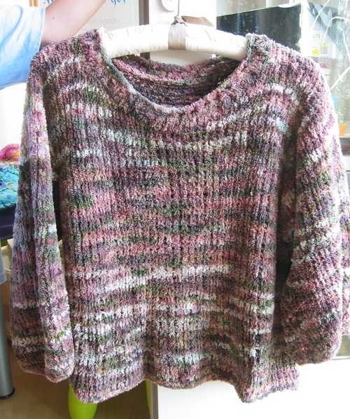 First Sweater! Collinette Fandango Cotton Chenille