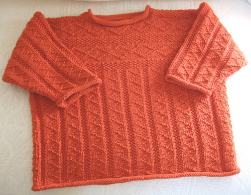 Scamp from the Pipsqueaks book in Rowan DK Cotton