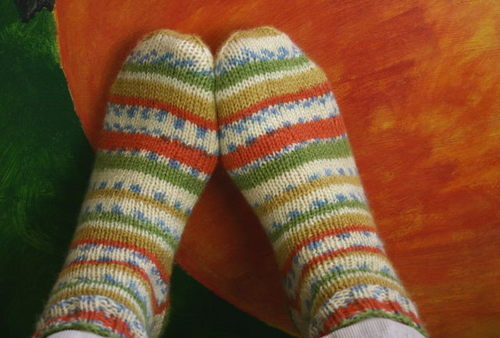 First Socks - Steinbach Wolle Strapaz yarn