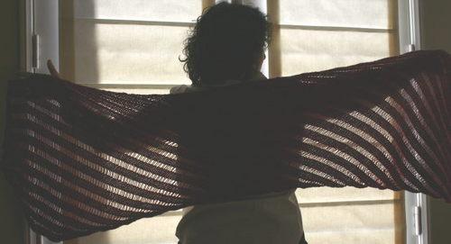Knitty's Clapotis in ArtYarns Supermerino