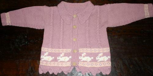 Little Girl's Bunny Sweater