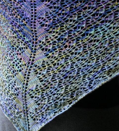 Koigu Charlotte's Web Shawl - close up