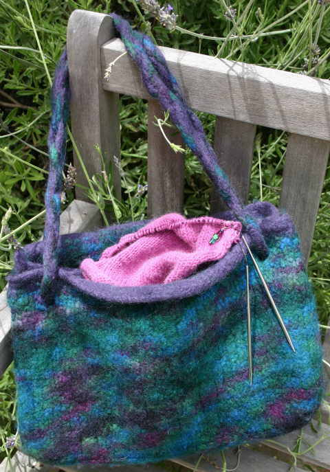 Booga Bag in Brown Sheep Burly Spun
