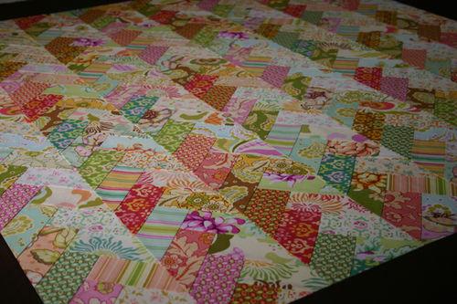 Heather Bailey Friendship Braid Quilt close up
