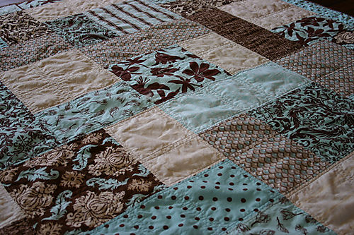 Eggahells & Chocolate Joel Dewberry Quilt detail