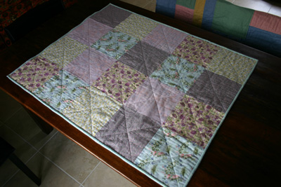 Project Linus baby quilt in flannel