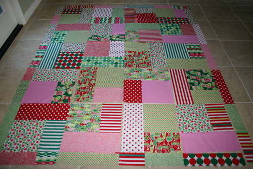 Turning Twenty Christmas Quilt Top 2006