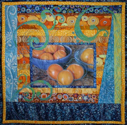Mini Quilt for Swap - Winter Oranges