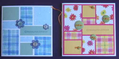 Paper pieced cards