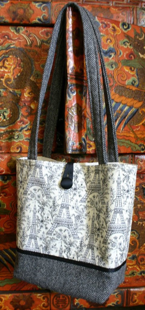 Paris knitting bag (my pattern)