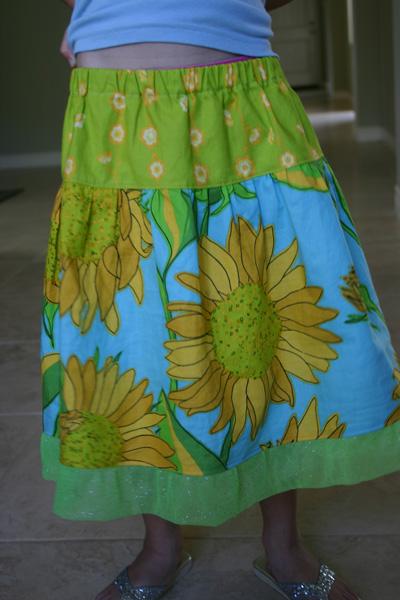 Sunflowers Twirl Skirt