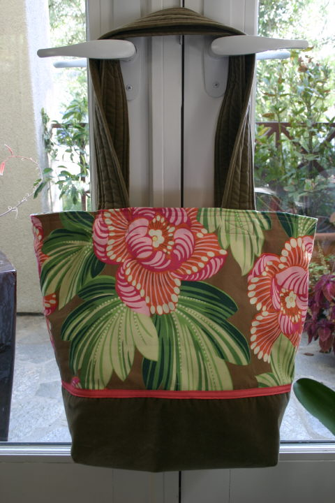 Tote (my pattern) - Amy Butler & cotton velvet